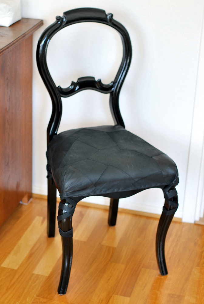 19th century chair with leather seat cover diy